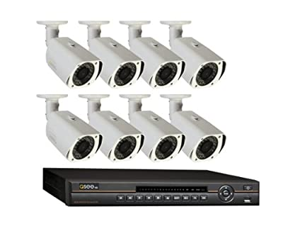 Q-See QC818-8L4-1 8 Channel HD Digital NVR with 1TB Hard Drive and 8 HD 720p IP Camera (Black/White)
