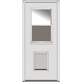 National Door Company Z000046r Steel Prehung Right Hand Inswing Entry Door 1 2 Lite With