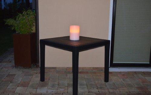 gartentisch tisch bistrotisch beistelltisch rattan optik anthrazit 79 x 79 cm com forafrica. Black Bedroom Furniture Sets. Home Design Ideas