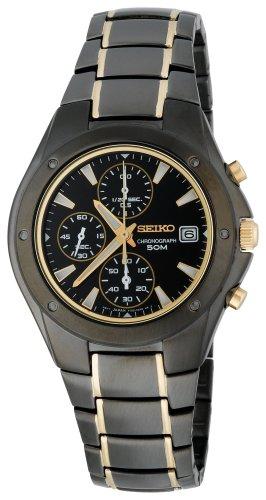 black friday seiko s snd641 titanium chronograph gold
