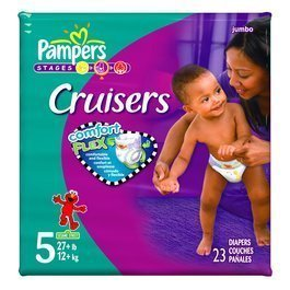 Pampers Cruisers Comfort Flex-Count, Size 5, 23-Count (Pack of 4)