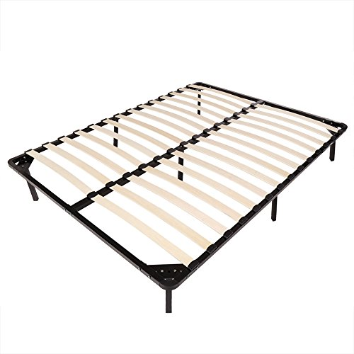 Review Homdox Platform Bed Frames Queen Size Foliding Wood Slats Bed Foundation Mattress Frame