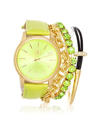 Arm Candy Women's NXS5291M1-CGR Green Stainless Steel/Leather Watch