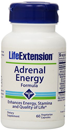 Life Extension Adrenal Energy Formula Vegetarian Capsules, 60 Count
