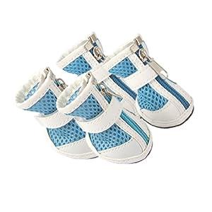Jardin Nonslip Sole Front Zipper Dog Booties Boots, Size 1, Blue
