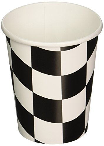 Creative Converting 96 Count Hot/Cold Cups, 9 oz, Black/White