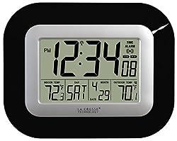 La Crosse Technology WS-8115U-B Digital Wall Clock with Indoor and Outdoor Temperature