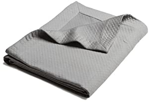Pinzon Diamond Matelasse Coverlet, Full/Queen, Silver Gray