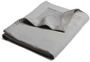 Pinzon Diamond Matelasse Coverlet, Full/Queen, Silver Grey