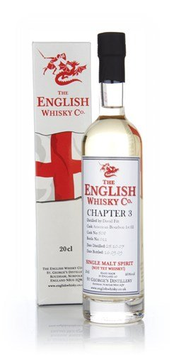English Whisky Chapter 3 20cl Malt Spirit and New Make Whisky