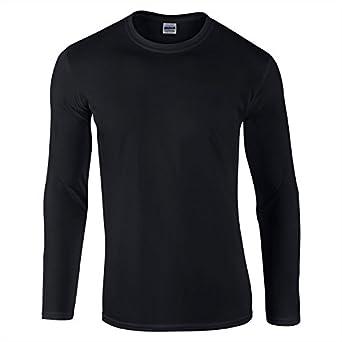 Gildan Mens Softstyle Long Sleeve Ultra Cotton Crew Neck T-Shirt