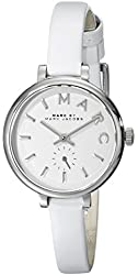 Marc by Marc Jacobs Women's MBM1350 Stainless Steel Watch with Skinny White Leather Band