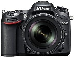 """Nikon D7100 - Cámara réflex digital de 24.1 Mp (pantalla 3.2"""", estabilizador óptico, vídeo Full HD), color negro - kit con objetivo 18-105mm f/5.6"""