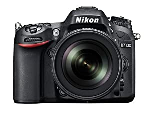 Nikon D7100 Fotocamera Digitale SLR 24 Megapixel, Monitor TFT da 8 cm (3.2 Pollici), Video Full HD, incluso Obiettivo VR AF-S DX 18-105 mm 1:3.5-5.6G ED, Colore Nero