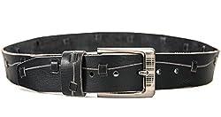 Quero Men's Harness Casual Belt (4001_Black_Large)