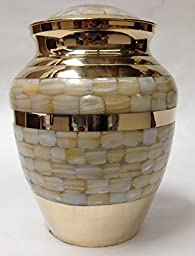 Adult Brass Funeral Cremation Urn, Human Ash Urns