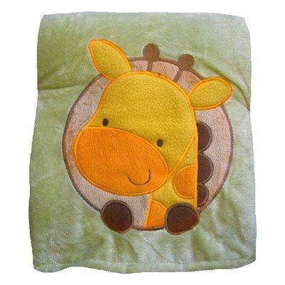 Butterfly Fleece Giraffe Crib Throw Blanket - 1