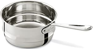All-Clad 4703-DB Stainless Steel Dishwasher Safe Double Boiler Insert Cookware, 3-Quart, Silver from Groupe SEB