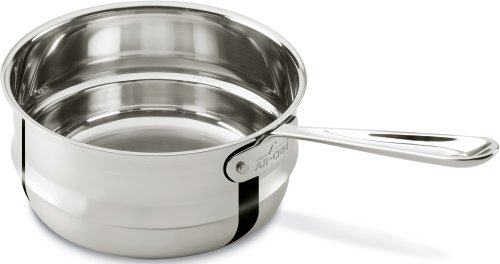 All-Clad 4703-DB Stainless Steel Dishwasher Safe Double Boiler Insert Cookware, 3-Quart, Silver (All Clad Boiler compare prices)