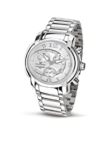 Philip Men's Anniversary Chronograph Watch R8273650145 with Quartz Movement, Silver Dial and Stainless Steel Case