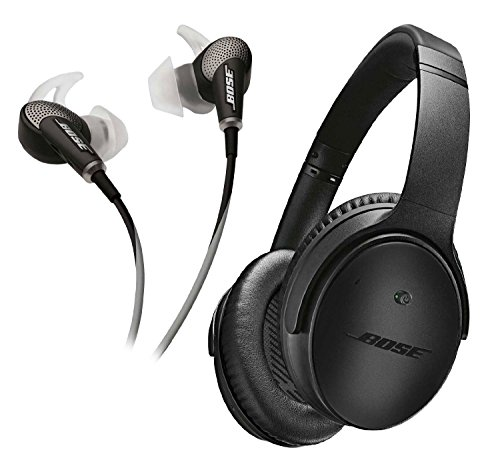 Bose QuietComfort 25 & 20 Bundle Noise Cancelling Headphones for Apple devices - Triple Black