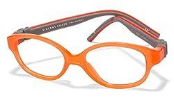 Vincent Chase Flex VC 8026 Orange Transparent Orange Grey C1 Kids' Eyeglasses (Kids 1-5 yrs)