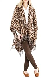 Animal Print Tassel Wrap [T01-8657-S]