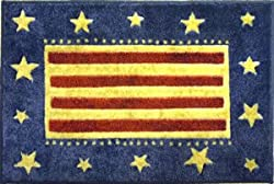 Americana Style - Stars & Stripes Theme - Patriotic Home Accent Mat / Rug - 40 x 22 - By Bacova Guild