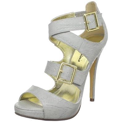 Michael Antonio Women's Tanno Platform Sandal,Grey,7.5 M US