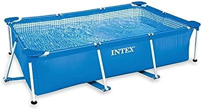 Intex - 58980Fr - Piscine - Piscinette Metal Frame 2,60 X 1,60 X 0,65 M - Tubulaire Métal Rectangulaire