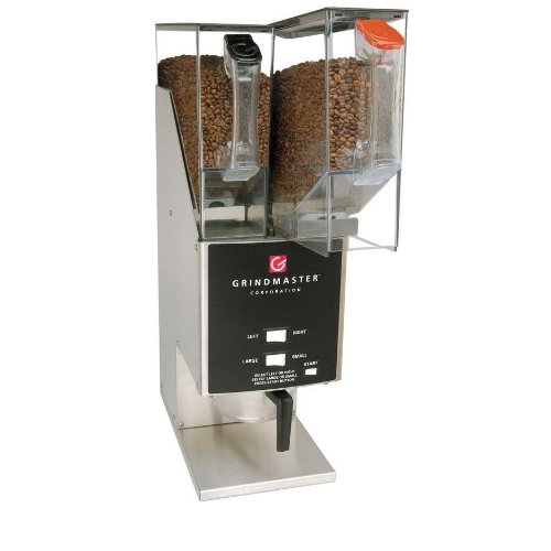 Grindmaster-Cecilware 250RH-3 Coffee Grinder W/ Removable Double 5 Lb. Hoppers & Three Portion