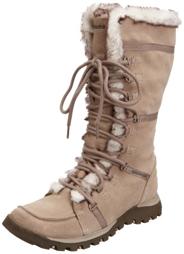 Skechers Womens Grand Jams Unlimited Taupe Slouch Boots 45419 4 UK, 37 EU