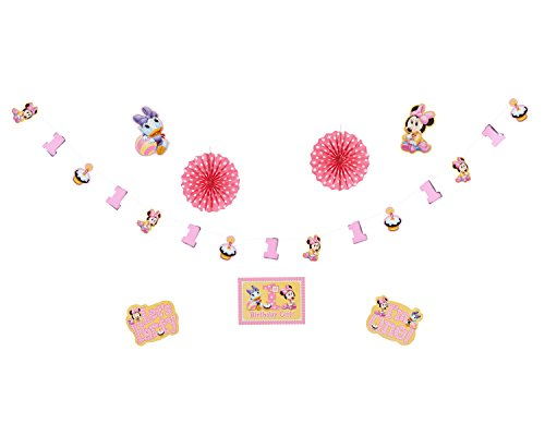 Minnie's 1st Birthday Decoration Kit