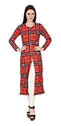 Brand Me Up Women's Cotton Kurta (BMU-TP17--S, Red, Small)