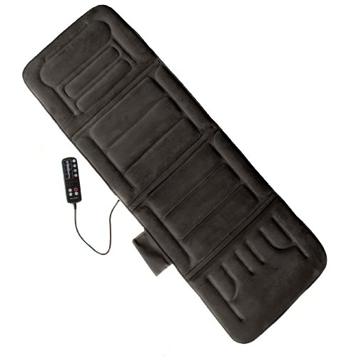 Comfort Products 10-Motor Massage Plush Mat With Heat, Grey front-170473