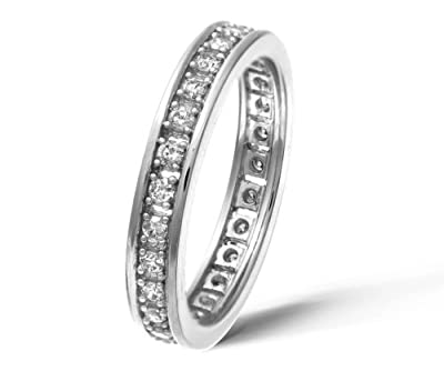 Ariel 18ct White Gold Half Carat Diamond Full Eternity Ring