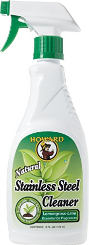 howard-products-ss5012-natural-stainless-steel-cleaner-trigger-spray-lemongrass-lime-16-ounce