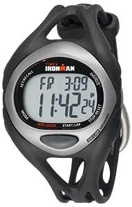 Timex Men's T54281 Ironman Sleek 50-Lap Silver-Tone/Black Resin Strap Watch