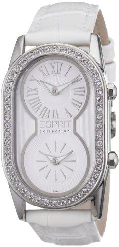 Esprit EL101192F10 - Reloj para mujer de cuero blanco