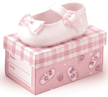 Oh! So Cute Baby Girl Pink Ceramic Shoe