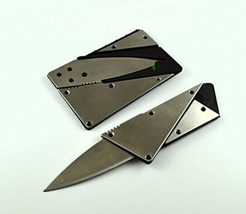 Survival Folding Credit Card Tactical Pocket Knife - Cardsharp By Iain Sinclair - Light, Sharp, Thin, Stainless Steel, Safety Lock,