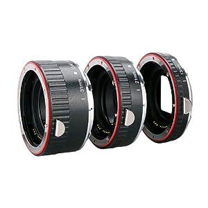 Jeu de tubes-allonge d'extension macro de marque Aputure, adaptateur mise au point auto Autofocus AC-MC pour appareil photo Canon (3 pièces : 13mm, 21mm, 31mm) LF160