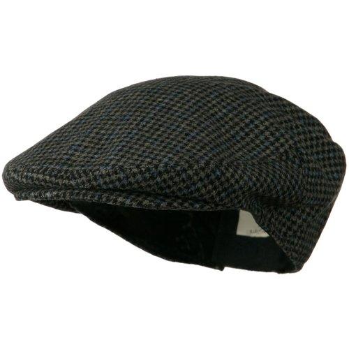Wool Snap Front Men'S Ivy Cap - Black Plaid M