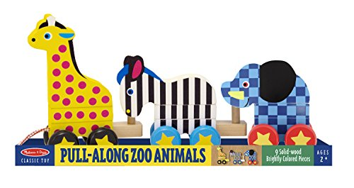 Melissa & Doug Pull-Along Zoo Animals