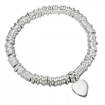 Sterling Silver Links Heart Bracelet