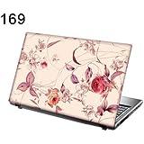 """TaylorHe Skins 15,6"""" Autocollants en vinyle coloré avec motif pour ordinateur portable (38cm x 25,5cm) Laptop Skin fleurs, rose"""