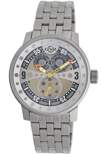 GV2 by Gevril Men's 4040B Powerball Steel Bracelet Sub-Second Big Date Watch