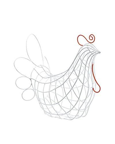 Seletti Fantastico Domestico-Hen Basket, White/Red