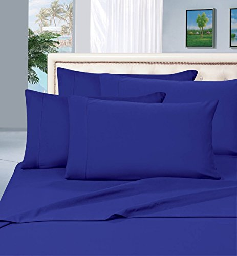 #1 Rated Best Seller Luxurious Bed Sheets Set on Amazon! Elegant Comfort® 1500 Thread Count Wrinkle,Fade and Stain Resistant 4-Piece Bed Sheet set, Deep Pocket, HypoAllergenic - Full Royal Blue (Royal Blue Bed Sheets compare prices)