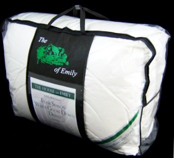 Double Size 100% Hungarian White Goose Down All Seasons 13.5 Tog Duvet - Made in Hungary